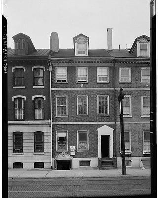 One of the original rowhouses on 707 Sansom Street