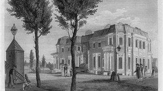 A sketch of Morris' unfinished house at Chestnut Street