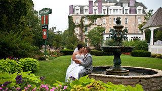 "This couple chose the 1886 Crescent Hotel & Spa, located in ""the wedding capital of the South,"" for their wedding."