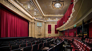 The theater's classic promenade, stage, and proscenium arch were originally designed at the turn of the 20th century by the Reid Brothers.