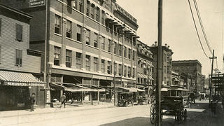 The Mercantile Block building in 1901