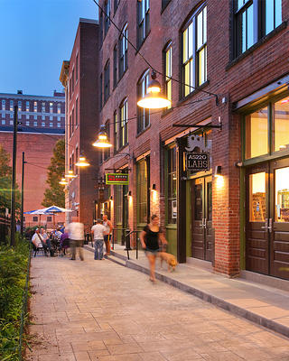 Martha Street alleyway at Mercantile Block in Providence, Rhode Island
