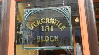 Mercantile Block building sign