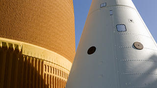 External Tank and Solid Rocket Booster Nose Cone, Space Shuttle Atlantis