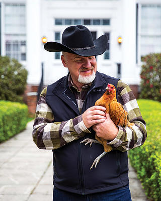Art Smith with chicken