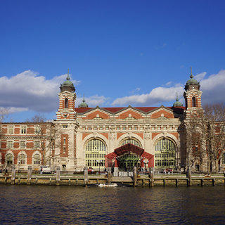 Exterior shot of Ellis Island National Monument.
