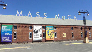 The exterior of the entrance building at MASS MoCA