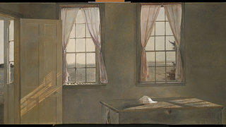 "Andrew Wyeth's ""Her Room,"" 1963. Tempura on panel."
