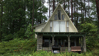 The exterior of Geraldine Watson's cabin