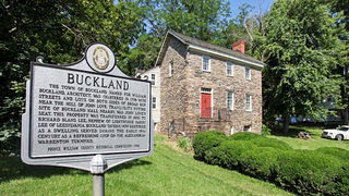 Exterior of the Buckland Tavern in Gainesville, Virginia