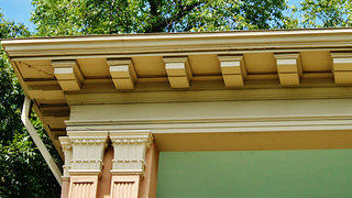 A closeup of an architectural detail like a cornice is a good visual for your junior preservationist. Credit: Villa Finale