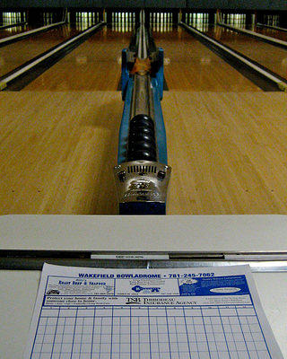 Scoring by hand at Candlepin Wakefield Bowladrome