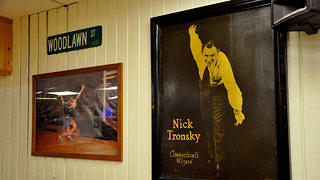 Poster of Local Bowling Legend Nick Tronsky at Woodlawn Duckpin Bowling in West Haven, Connecticut