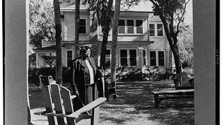 Bethune stands outside her house in Daytona Beach sometime in the 1940s.