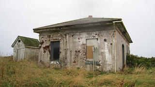 One of Cape Flattery's outbuildings is in severe disrepair.