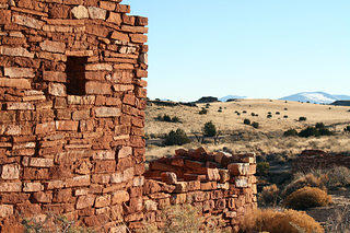 Window detail at Wupatki National Monument. Taken in 2011.