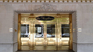 The entrance of Mayflower Hotel in Washington, D.C.