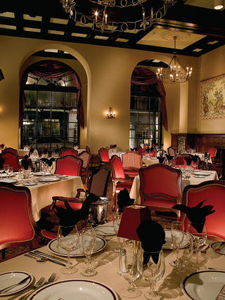 Interior of the Rib Room at the Omni Royal Orleans in New Orleans