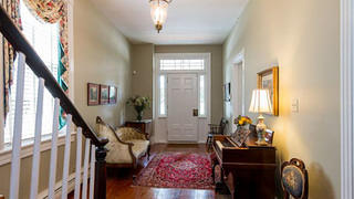 Spacious entry hall of Layton House.