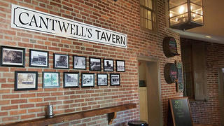 The interior of Cantwell's Tavern.