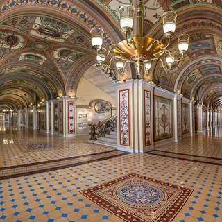 the completed north and west corridors. Credit: Architect of the Capitol