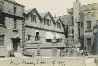 A historic photo of Hull-House in 1914. Credit: Jane Addams Hull-House Museum, University of Illinois at Chicago
