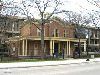 The Hull Home is an NHL that was moved in 1963. Credit: The Addams Hull-House Museum, University of Illinois at Chicago