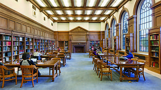 The main reading room of Founders Library at Howard University.