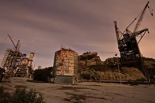 Abandoned structures at Santa Susana Field Laboratory in California