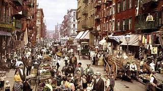 New York City's Mulberry Street, circa 1900.