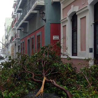 Old SanJuan, Puerto Rico, after Hurricane Maria in 2017