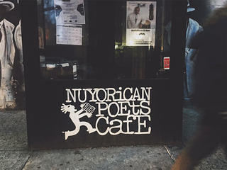 The Nuyorican Poets Cafe, a landmark cultural institution on the Lower East Side.
