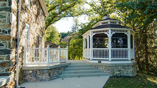 The outdoor gazebo of a Maryland Colonial.