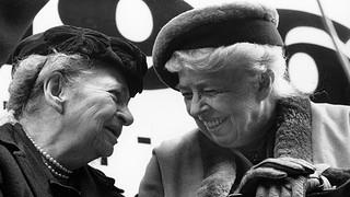 Frances Perkins and former First Lady Eleanor Roosevelt.