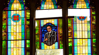 Stained glass window, Clayborn Temple, Memphis Tennessee