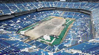 The Silverdome in Pontiac, Michigan.