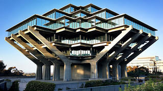 The exterior of Geisel Library.