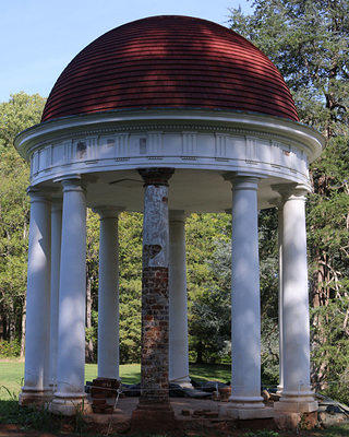 The temple that James Madison famously built but never used on Montpelier.