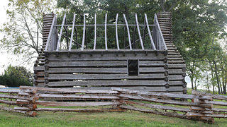 Exterior shot of a slave cabin copy on Montpelier.