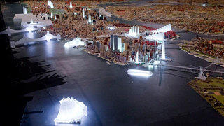 "Glowing translucent models add a ""Never Built"" twist to a Queens Museum mainstay."