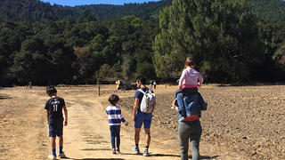 Hikers on Filoli's Estate Trail