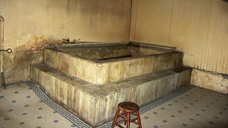 One of the baths in the Panama Hotel's sento.