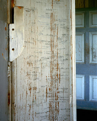 The Draytons' growth chart, kept from the 1880s to present day.