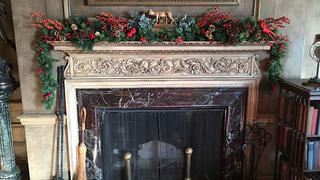 President Woodrow Wilson House library mantle