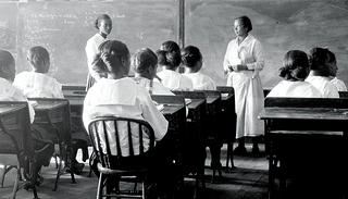 Undated historic photo of children at a Rosenwald School. Rosenwald Schools (a National Treasure of the National Trust) are considered one of the most important initiatives to advance black education in the early 20th century.