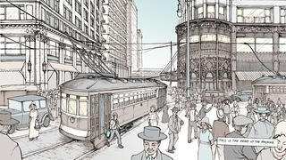 A page from the No Small Plans graphic novel. Photo Credit: Chicago Architecture Foundation