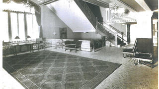 Historic photo of Altria Theater's Herndon lobby.