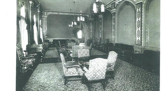 Historic photo of Altria Theater's lounge.