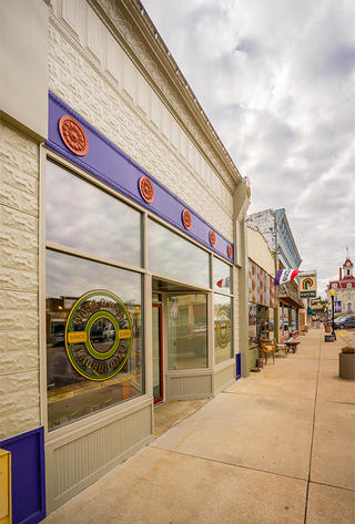 The laundromat is located on Cottonwood Falls' main thoroughfare.