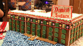 Baltimore, Maryland's Domino Sugar Factory in gingerbread.